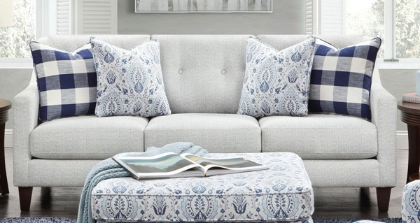Southern Motion Tampa Ice Off White Fabric Sofa STHN-3280B-Tampa-Ice