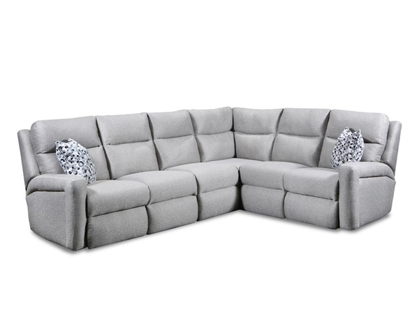 Southern Motion Metro Taupe Power Headrests Reclining Sectional STHN-METRO-PWRHDRREC-SEC
