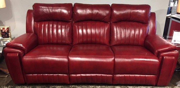 Southern Motion Silver Screen Red Power Headrests Reclining Sofa with Hidden Cupholders STHN-743-61P-906-42
