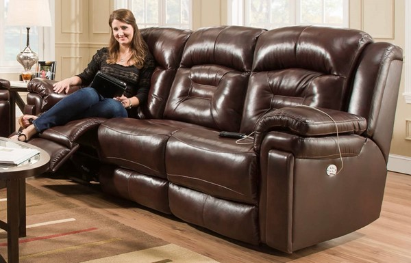 Southern Motion Avatar Brown Power Headrest Sofa STHN-84361P-90623