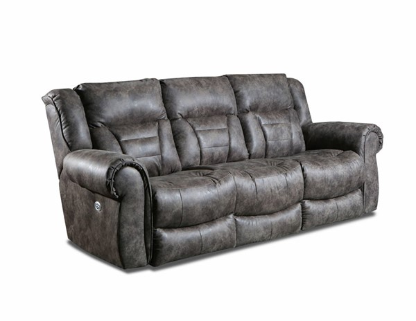Southern Motion Titan Brown Brindle Double Reclining Sofa with Power Headrest STHN-708-61P-200-21