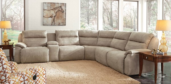 Southern Motion Five Star Tan Power Reclining Sectional STHN-512-05P-46-90P-84-90P-06P-230-15