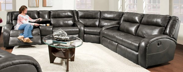 Southern Motion Maverick Grey Reclining Sectionals STHN-550-30-83-28-SEC-VAR