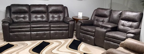 Southern Motion Inspire Grey Reclining Sofa and Loveseat Set STHN-85031-28-186-14