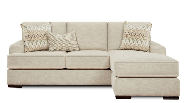 Southern Motion Handwoven Parchment Beige Fabric Sofa Chaise STHN-8568KP-HANDWOVEPARCHMNT