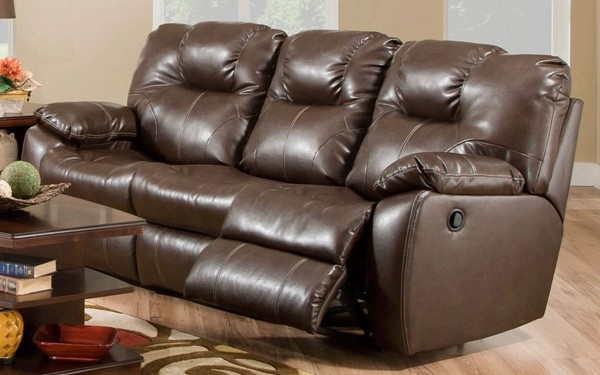 Southern Motion Avalon Brown Dark Roast Double Reclining Sofas STHN-83831-SF-VAR