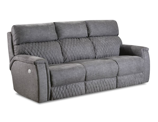 Southern Motion High Rise Grey Power Headrests Reclining Sofa STHN-671-61P-135-14