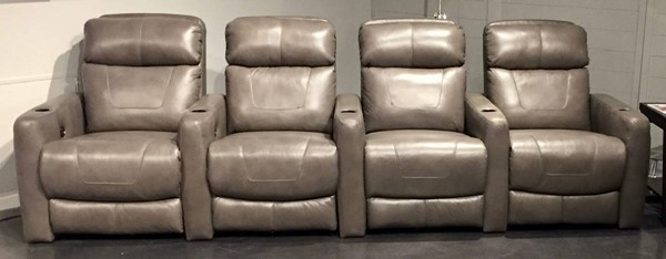 Southern Motion Premier Grey Home Theater Group with Power Headrests STHN-7023-05P-17P-17P-09P-906-04