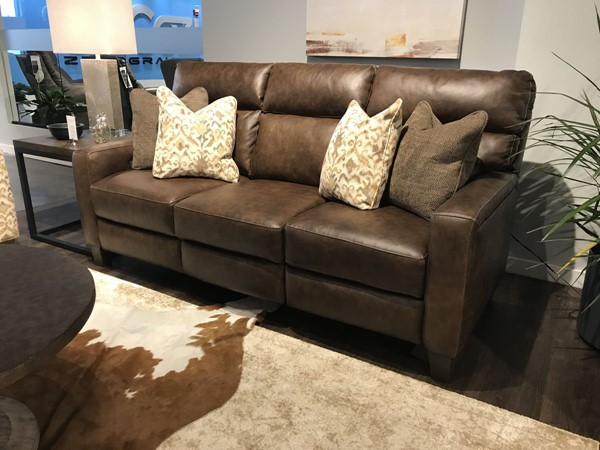 Southern Motion MT Vernon Brown Double Reclining Sofa STHN-68632P970221662315715