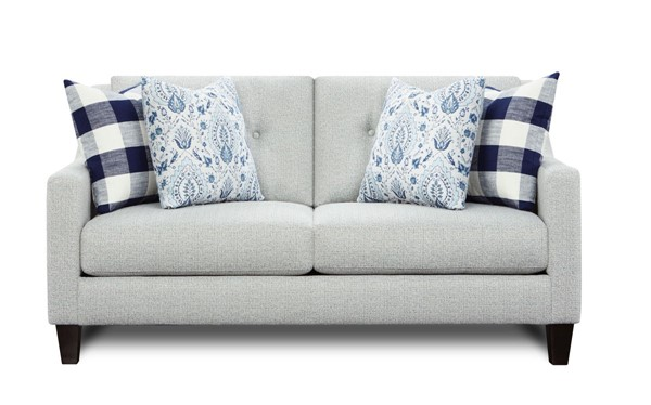 Southern Motion Tampa Ice Off White Fabric Loveseat STHN-3281B-Tampa-Ice