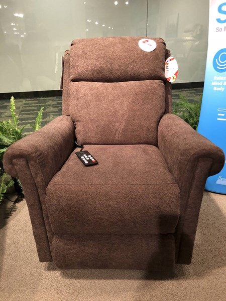 Southern Motion Superstar Brown Socozi Massage Lift Recliner with Power Headrest and Lumbar STHN-97312-95P-286-22