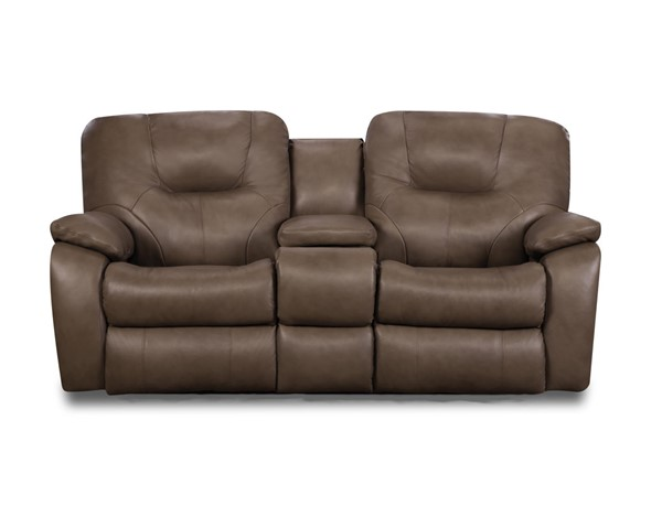 Southern Motion Avalon Taupe Power Headrest Reclining Loveseat with USB STHN-838-78P-936-17