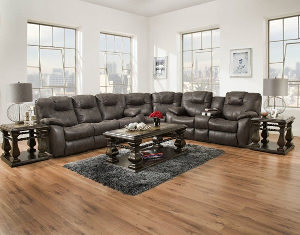 Southern Motion Avalon Grey Granite Reclining Sectional STHN-83831-28-83-299-09