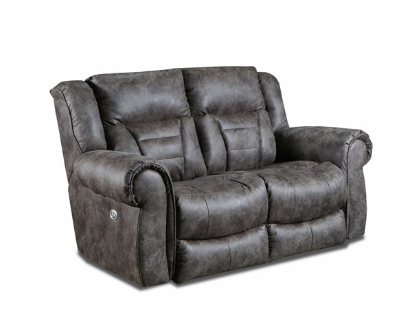 Southern Motion Titan Brown Double Reclining Loveseat with Power Headrest STHN-708-51P-200-21