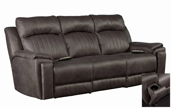 Southern Motion Silver Screen Grey Socozi Massage Power Reclining Sofa STHN-743-61P-95P167-14