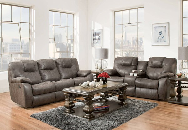 Southern Motion Avalon Grey Double Reclining Sofa and Loveseat Set STHN-838-31-28-299-09
