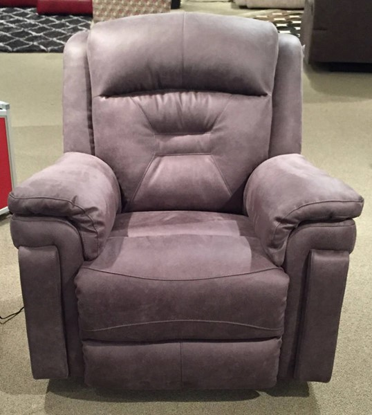 Southern Motion Avatar Grey Rocker Recliner with Power Headrest STHN-5843P-23014