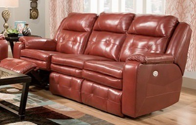 Southern Motion Inspire Red Power Headrest Reclining Sofa STHN-850-61P-906-42