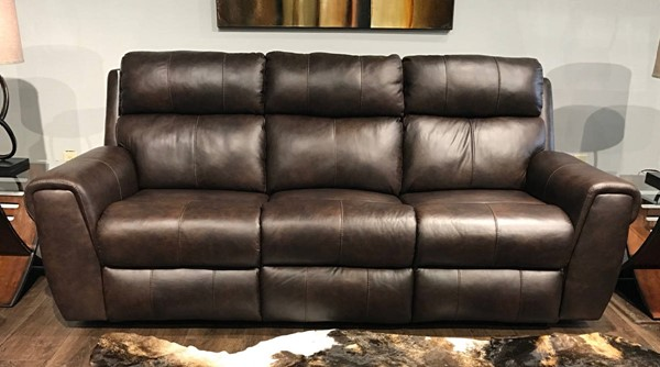 Southern Motion Braxton Brown Double Reclining Sofa and Console Loveseat Set STHN-719-31-28-970-22