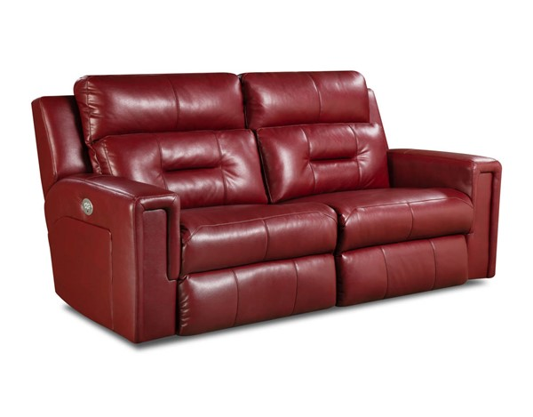 Southern Motion Excel Red Power Reclining Sofa STHN-86605P-06P-90511