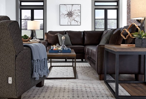 Southern Motion West End Brown Power Reclining Sectional STHN-68525P-WESTEND-BR-SEC
