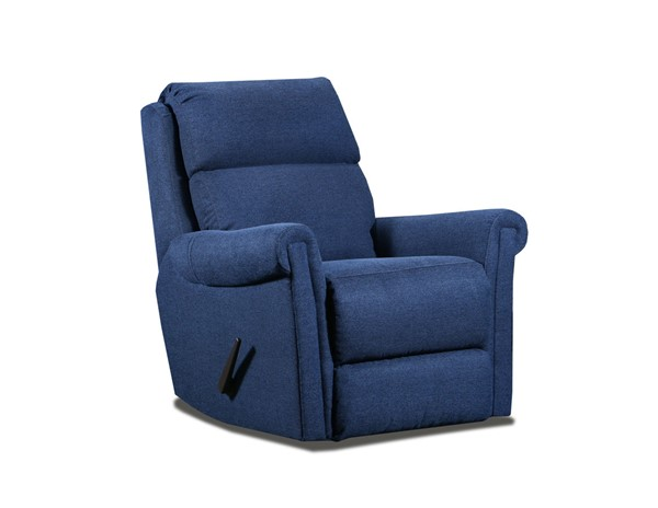 Southern Motion Superstar Blue Swivel Rocker Recliner STHN-1312S-119-60