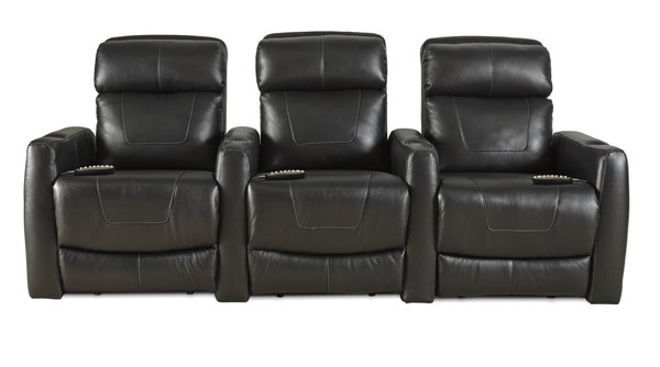 Southern Motion Premier Black Home Theater Group with Power Headrests STHN-7023-05P-09P-17P-905-13