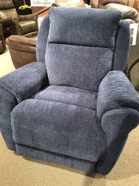 Southern Motion Gold Metal Blue Rocker Recliner STHN-1172-187-60
