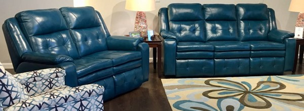 Southern Motion Inspire Green Reclining Sofa and Loveseat Set STHN-850-31-21-906-31
