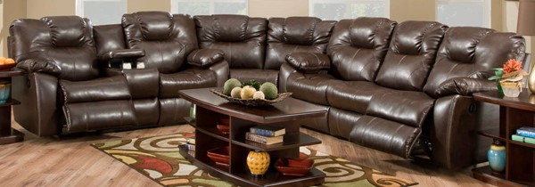 Southern Motion Avalon Brown Reclining Sectionals STHN-83831-28-83-90-SEC-VAR