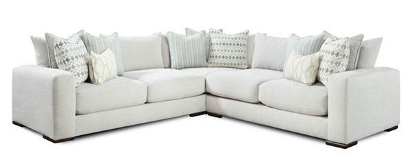Southern Motion Braxton Off White Fabric Sectional STHN-105021L1521R-SECT