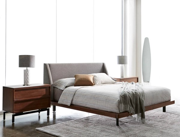 Star International Andes Pumice Walnut 2pc Bedroom Set with King Bed STR-464-WAL-BR-S3