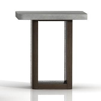 Star International Apex Cinder Brushed Slate Grey End Table