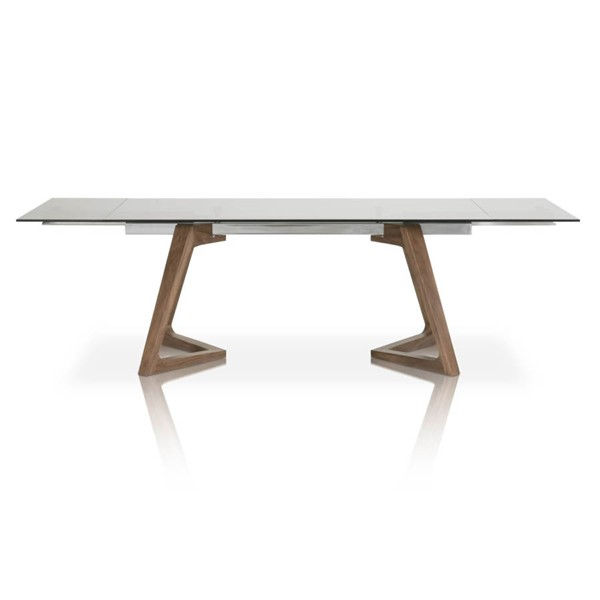 Star International Axel Walnut Smoke Grey Extension Dining Table STR-1602-DT-WAL-SGRY
