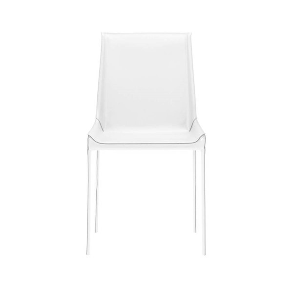 2 Star International Conrad White Dining Chairs STR-1620-WHT-GRY