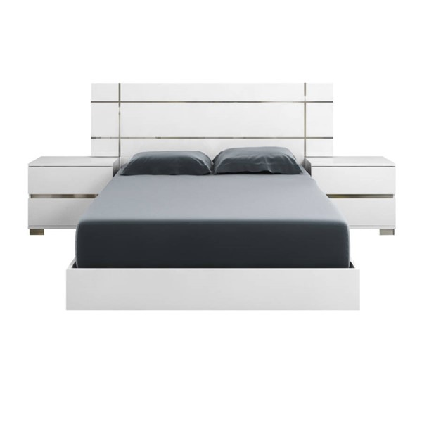 Star International Icon Gloss White Cal King Bed STR-2102-WHG