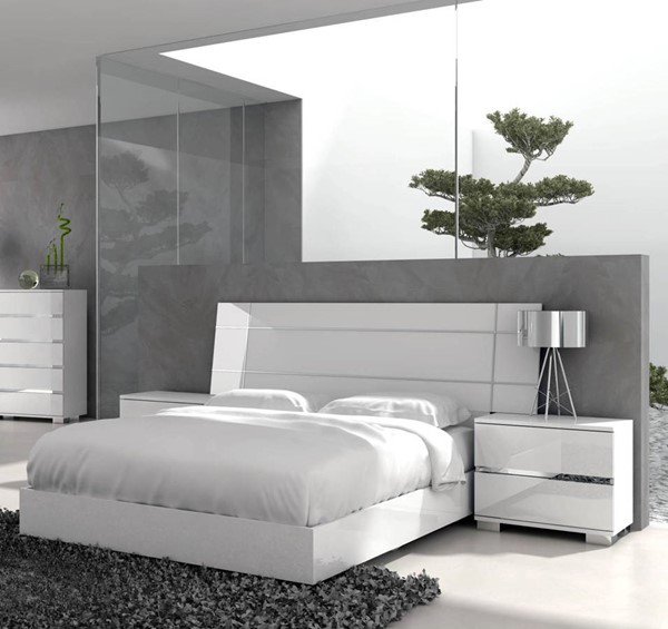 Star International Icon Gloss White 2pc Bedroom Set with Queen Bed STR-210-WHG-BR-S1