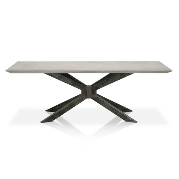Star International Industry Ash Grey Black Rectangle Dining Table STR-4630-BLK-AGRY
