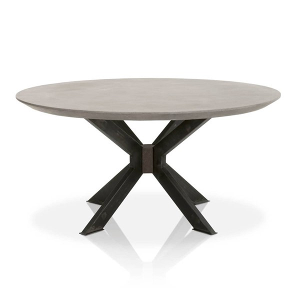Star International Industry Ash Grey Black Round Dining Table STR-4632-RD-BLK-AGRY