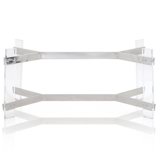 Star International Nora Clear Rectangle Dining Table Base STR-E-2955DT-ACR-STL