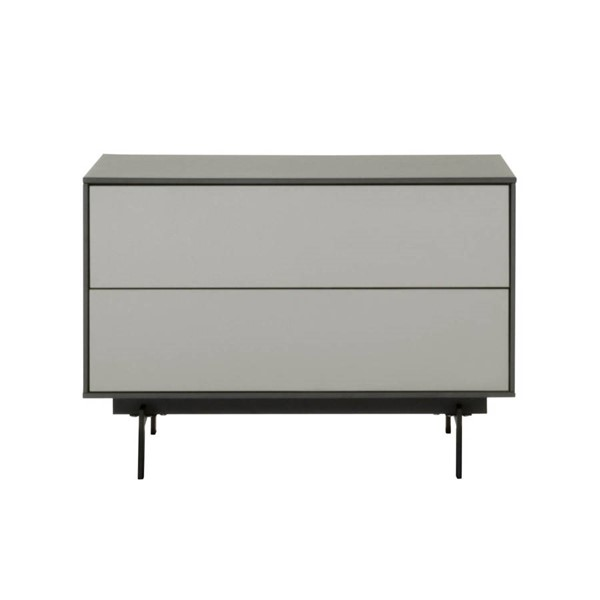 Star International Symphony Matte Grey 2 Drawer Modular TV Stand STR-1403-TV-MG-MLG-B