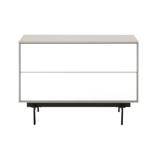 Star International Symphony Gloss White 2 Drawer Modular TV Stand STR-1403-TV-MLG-WHG-B