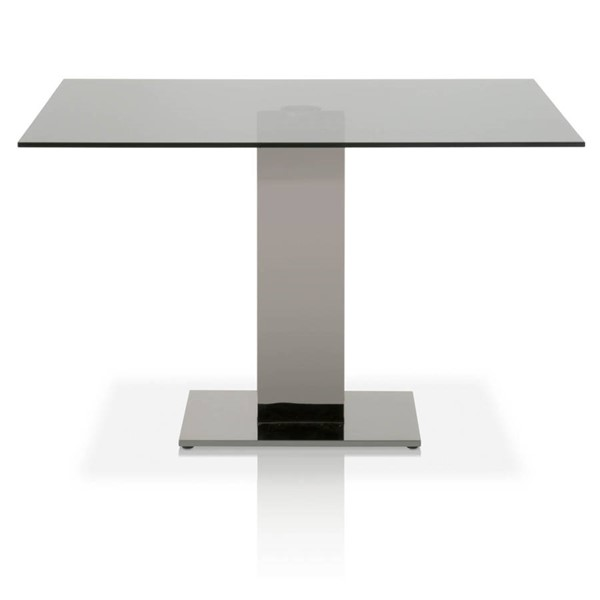 Star International Tower Black Smoke Grey Clear Dining Table STR-E-2896DT-SGRY-BSS