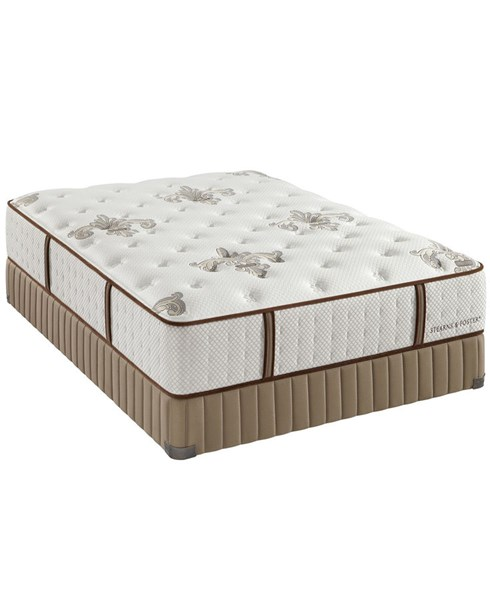 Stearns & Foster estate Queen Plush Tight Top Mattress & Boxspring StrnsEstPlshTTQN