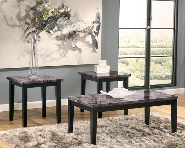 3 Maysville Contemporary Wood Faux Marble Occasional Table Sets T204-13
