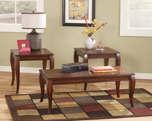 Mattie Traditional Cherry Stained Wood 3 In 1 Pack T317-13