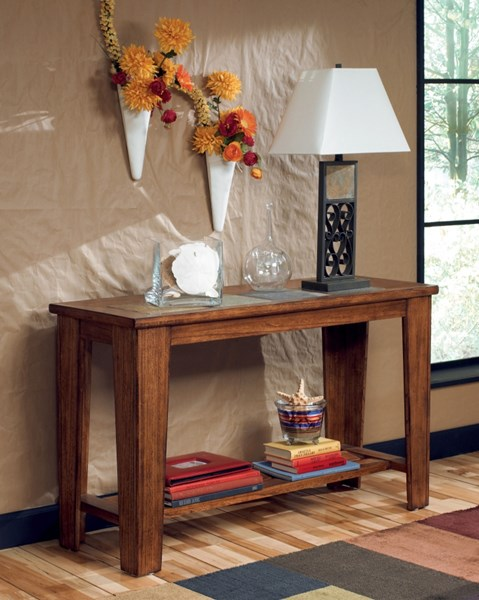 Toscana Traditional Rich Warm Wood Tiles Sofa Table T353-4