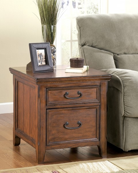 End Year Sale Ashley Furniture: Ashley Furniture Woodboro End Table With File Cabinet