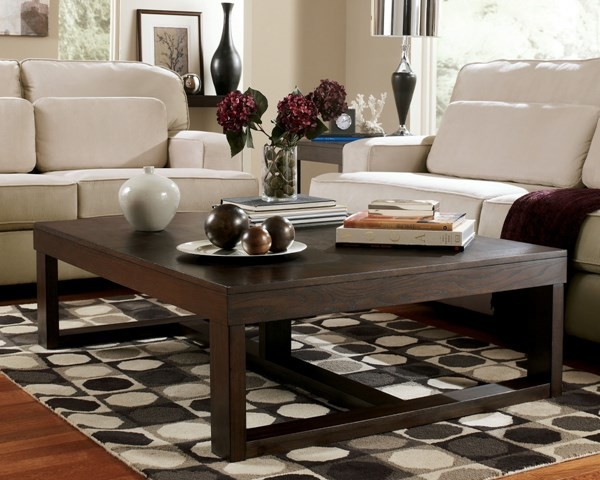 Watson Contemporary Dark Brown Wood 4pc Coffee Table Set T481-S
