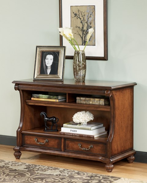 shelton traditional dark brown wood sofa table the classy home. Black Bedroom Furniture Sets. Home Design Ideas